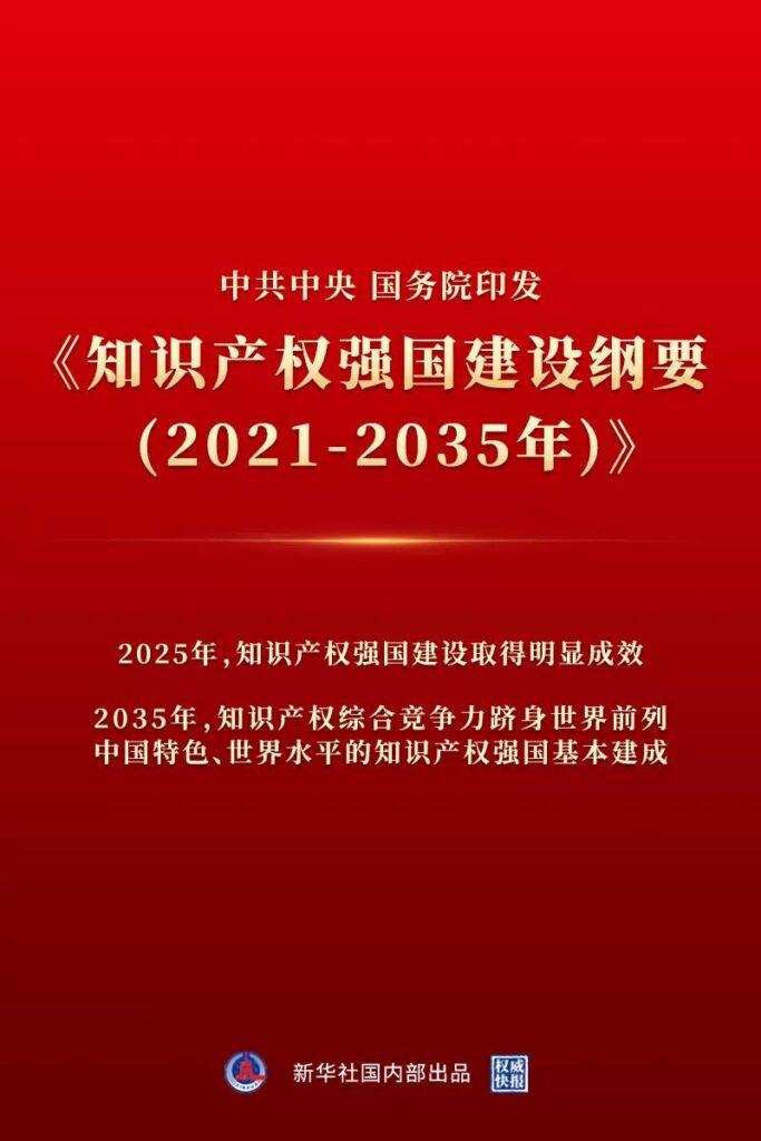[知产晨讯]9月23日:中共中央 国务院印发《知识产权强国建设纲要(2021-2035年)》;《全球创新指数报告》:中国升至第12位